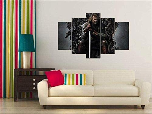 NC56 5 Canvas Wall Art Game of Thrones Eddard Stark Now Home Decoration Stampa Astratta Opera d'Arte