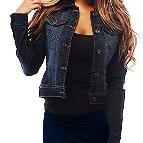 SKYLINEWEARS Womens Full Sleeve Coat Casual Jean Soft Denim Jacket X-Large