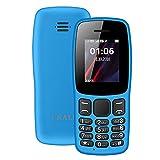 I KALL K14 Dual Sim Keypad Mobile (1.8 Inch, Sky Blue)