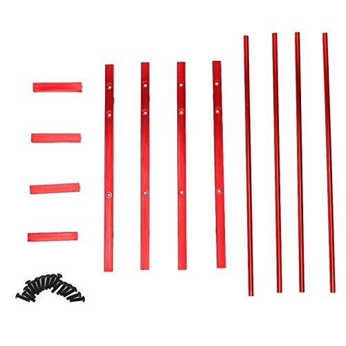 SALUTUYA Soporte de exhibición de RC Duradero Diseño razonable Exquisita artesanía RC Tire Rack para 1/10 RC Crawler Car 1.9in Neumáticos(Red)