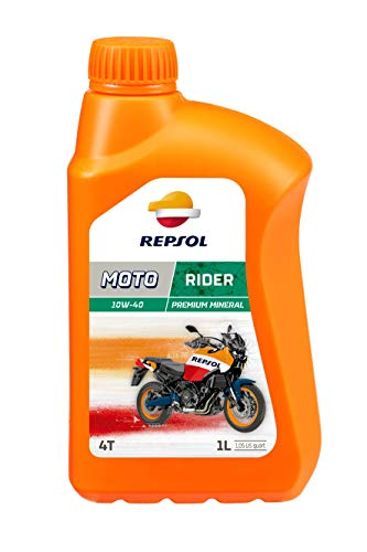 REPSOL Moto Rider 4T 10W-40 Aceite De Motor Para Moto, 1l