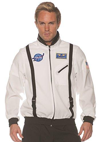Underwraps unisex Adult Astronaut Costume Jacket-White, One Size