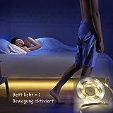 Movimiento activado Jindia cama de luz LED flexible, un coche Streifenlicht/De Bewegungsmelder Nachttischlampe, movimiento aktivierte LED-Lichtleiste, ein Sensor