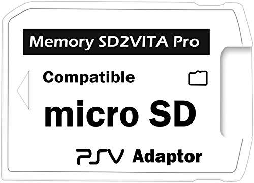 LEXINCHENG Adaptateur SD2Vita Pro 5.0 pour carte mémoire Micro SD PSVITA de PS Vita 3.60 Henkaku, couverture complète