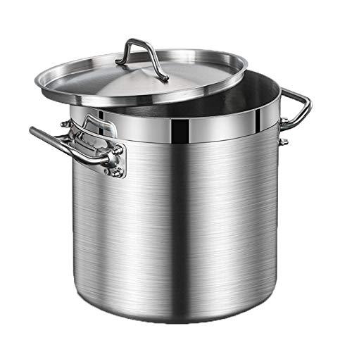 Fermentatore in acciaio inox con contenitore per latte, grande barilotto per alimenti, contenitore per farina, fondo composito a tre strati (dimensioni: 25L)
