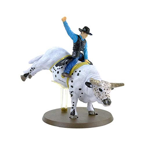 Big Country Toys Smooth Operator - Rodeo Toys - Bull Riding Figurine - 1:20 Scale - Hand Painted - Collectible & Playable