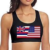 YBRB American Hawaii State Flag Flag Damen Nahtlose Sport-BH Riemchen Top