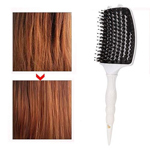 ead Brosse de massage, outil de coiffure professionnel(blanc)