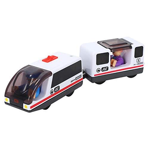 Juego De Juguete De Tren Eléctrico, Locomotora De Ferrocarril para Niños, Tren Pequeño Eléctrico Conectado Magnéticamente, Juguete De Riel Magnético para Niños