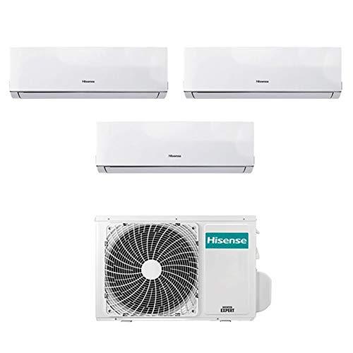 Aire acondicionado climatizador Trial Split Inverter Hisense New Comfort 9000+9000+12000 9+9+12 Btu A++ 3AMW58U4SZD1