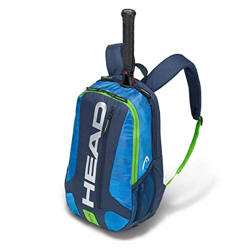 HEAD Elite Backpack, Borsa per Racchetta Unisex Adulto, Blue/Green, One Size