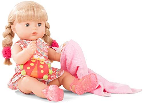 Götz 1818242 Maxy Aquini Vintage Badepuppe - 42 cm Puppe mit Blonde Haare, Blaue Schlafaugen - 10-teiliges Set - Mädchen-Babypuppe