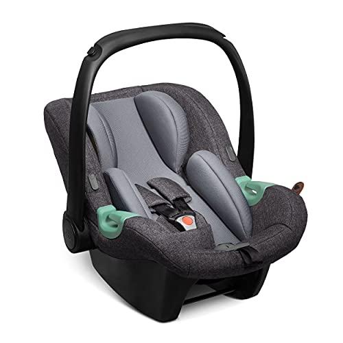 ABC Design Baby Autositz Tulip – Babyschale für Gruppe 0+ i-Size bis 13 kg – Verstellbare Kopfstütze – Seitenaufprallschutz & 3-Punkt-Gurtsystem – Farbe: street