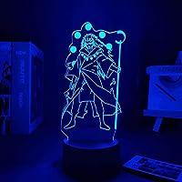 GMYXSW 3D LEDの夜のライトナルートされたUchiha Madara Rikudo Sennin版寝室のベッドサイドの装飾ランパラクリエイティブランプマンガのナルトル-遠足