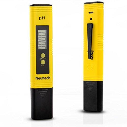 Neuftech Numérique PH-mètre haute précision Testeur Digital avec l'écran LCD Pour Aquarium Piscine d'eau hydroponique Test