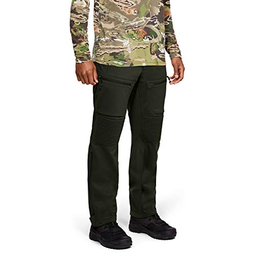 Under Armour, pantaloni da uomo Ridge Reaper Infil Windstopper, Uomo, Verde/Nero, 38