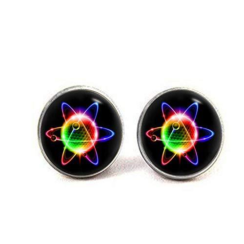 Atom-Ohrringe, Quantum Physik, Wissenschaft, Erfindung, Schmuck, Kunst, Geschenke