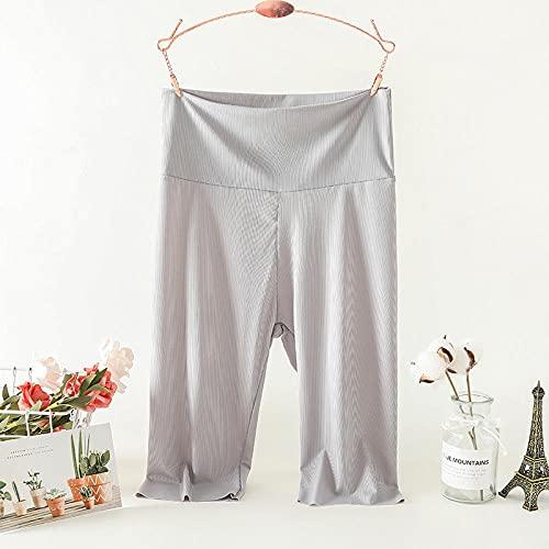 bayrick TIK Tok Mismo Estilo,Femenino Nuevo Seda de Hielo Cinco Puntos Pantalones de Yoga Abdomen tamaño Grande Cintura Alta Anti-luz Delgada-F_SG