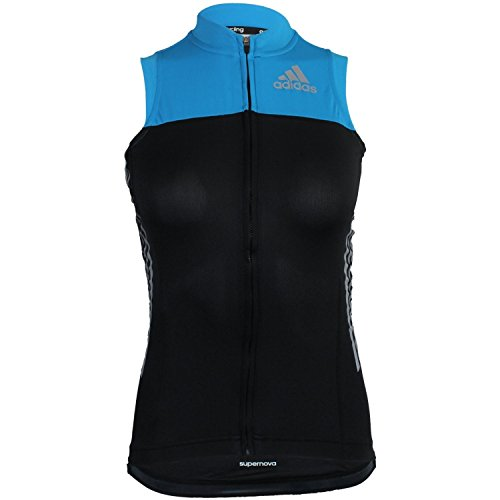 adidas Supernova Sleeveless Cycling Jersey W G82330 Damen Radfahrtrikot/Radsport Shirt/Weste Schwarz XS