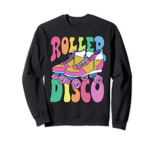 Roller Disco 70er 80er Jahre Derby Skate Kostüm Party Sweatshirt