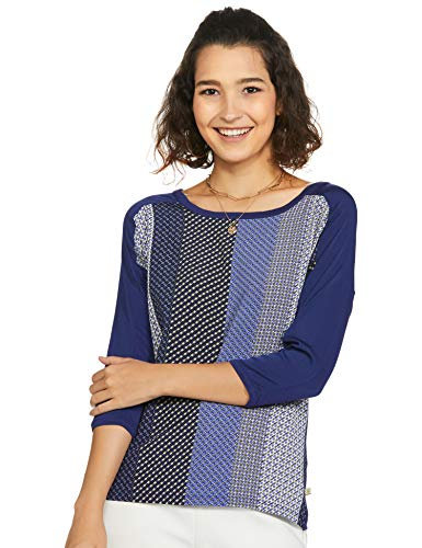 United Colors of Benetton Women's Regular Blouse (17P3CV4E3480I_Blue XS)