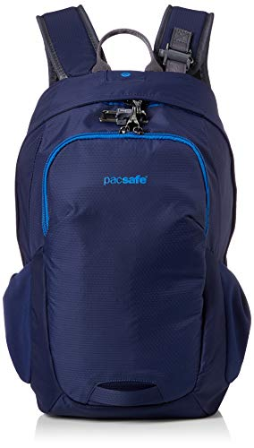 Pacsafe Venturesafe G3 15 Liter Rucksack, Anti-Diebstahl Technik, 100D Nylon Diamond Ripstop, Daypack, Wanderrucksack, Reisegepäck mit Sicherheitstechnologie, 15 Liter, Blau/Blue Steel