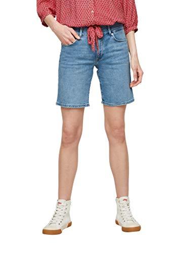 s.Oliver Damen Slim Fit: Bermuda-Jeans light blue 44