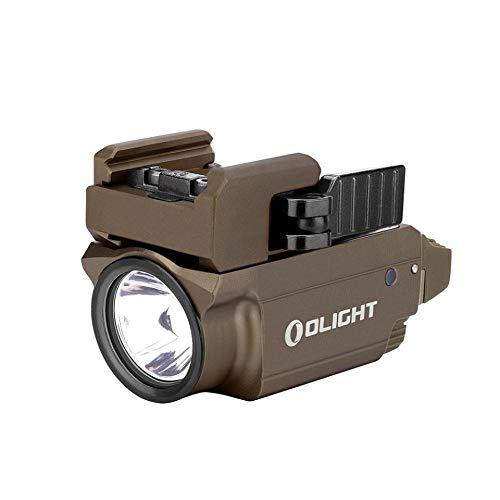 OLIGHT Baldr Mini ウェポンライト (ブラック) 600ルーメン マグネット充電式 タクティカルライト 三つの点灯モード 懐中電灯 IPX4防水 小型 緑ビーム付き サバゲー 2年保証