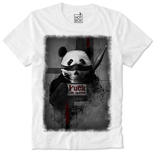 HOTBOX T-Shirt Riot Disobey Panda Cute F'ck The System Anti Capitalism Bandana Gangster Gangsta-L