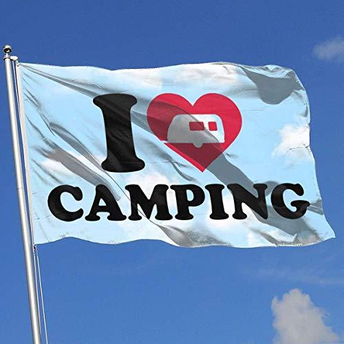 WH-CLA Fahne Ich Liebe Camping Garten Flagge Hinterhof Demonstration Flagge Schöne Outdoor-Mode Willkommen Indoor-Saison Lustige Feiertage Yard Banner Standard Gedruckt Haus Flagge Benut