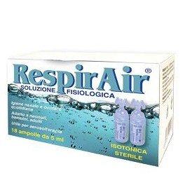 Soluzione fisiologica RespirAir igiene e aerosol 18 pz (2ml)