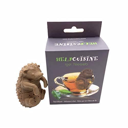 HelpCuisine infusore per tè/Filtro per tè, Infusore per Te e Tisane a Forma di Riccio, Design Simpatico ed Originale Si Adatta a Tutte Le Tazze, Silicone 100% Alimentare, novità 2019!