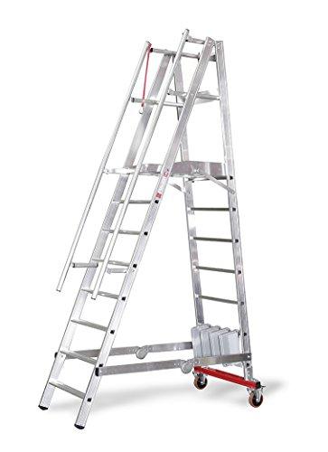 EuroLine Podestleiter, fahrbar, klappbar - 12 Stufen 3277712