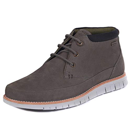 Mens Barbour Nelson lederen winter Flat Casual Lace Up Chukka enkellaars