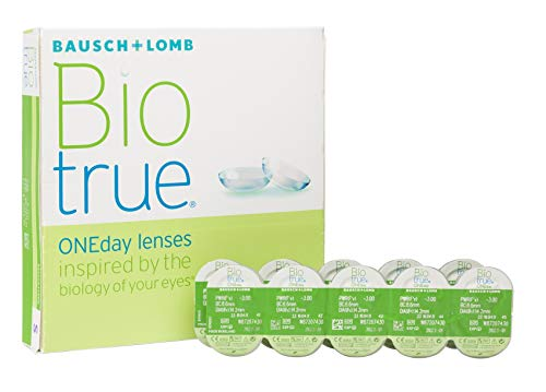 Biotrue ONEday Inspiriert von der Natur Ihrer Augen Tageslinsen weich, 90 Stück BC 8.6 mm / DIA 14.2 / -2.75 Dioptrien