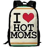 TTmom Zaini/Zaino Casual,Borse a Zainetto, I Love Hot Moms Print Custom Casual...