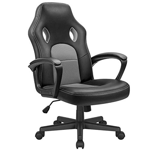 KaiMeng Office Gaming Chair Leather Computer Chair High Back Ergonomic...