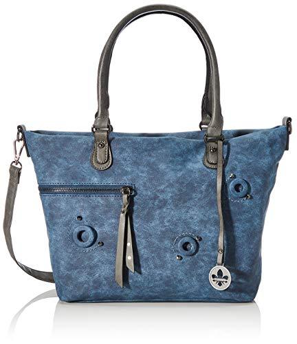 Rieker Damen Handtasche H1335, Blau (Pazifik/Smoke), 260x105x370 cm