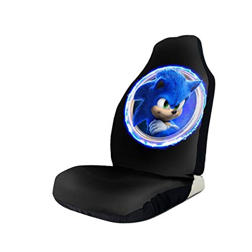 Zhengyu Sonic The Hedgehog Car Seat Covers Accessories Set Vehicle Seat 2 Pieces Set