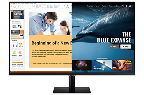 Samsung 27 inch M5 Smart Monitor with Netflix, YouTube, Prime Video and Apple TV Streaming (LS27AM500NWXXL, Black)