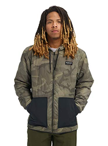 Burton Men's Mallet Hooded Jacket, Worn Camo, Medium