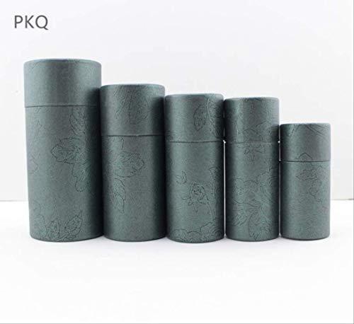 FHFF Kraft papieren tas 6 kleuren kleine kraft papier kartonnen doos voor cosmetische etherische olie pakket doos ronde parfum fles Inn 12.1X4.8Cm 100Ml groen