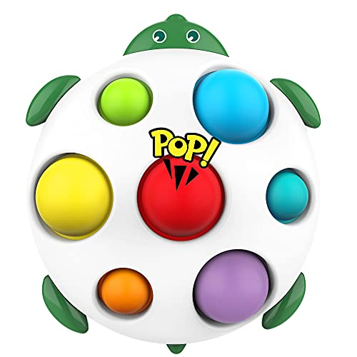 top toys for children in 2021 2021 Newest Simple Dimple Fidget Toy, Color Learning Toys for Kids, Flipping Board Toy Early Educational Tool Stress Relief Anti-Anxiety Sensory Fidget Toys for Children Boy Girl