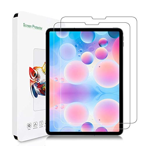2-Pack Screen Protector for iPad Pro 11 Inch 2020&2018, [Tempered Glass] [HD Clear] [Bubble-Free] [Anti-Scratch] Also Compatible with New iPad Air 4 10.9 inch 2020, Work with Apple Pencil