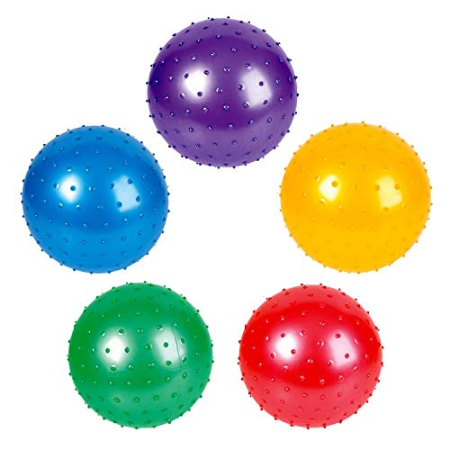 Rhode Island Novelty 7 Inch Knobby Balls Assorted Colors 5 Pack