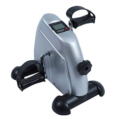 AUKLM Mini Exercise Bike Pedal Exerciser for Seniors with Digital Display and Adjustable Resistance,Home Physiotherapy Postoperative Recovery,The Best Gift for Parents Elderly Arthritis Sufferers