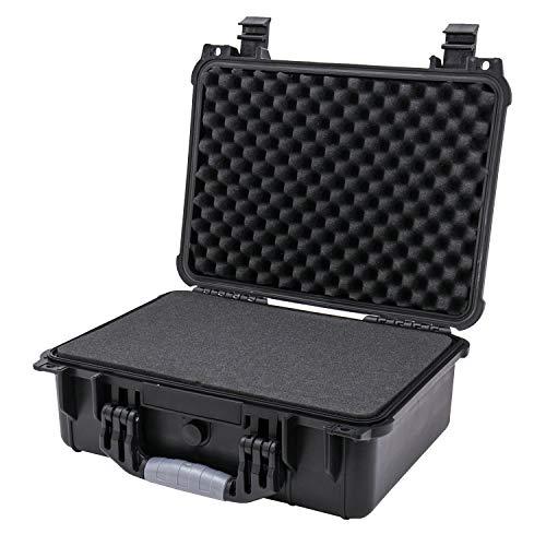 HMF ODK100 Outdoor-Fotokoffer, Waffenkoffer mit Rasterschaumstoff | 41 x 32 x 17,5 cm