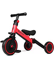 Kiwi cool 3 in 1 kids tricycle for children from 1.5 to 4 years old with 3 wheels for boys and girls
