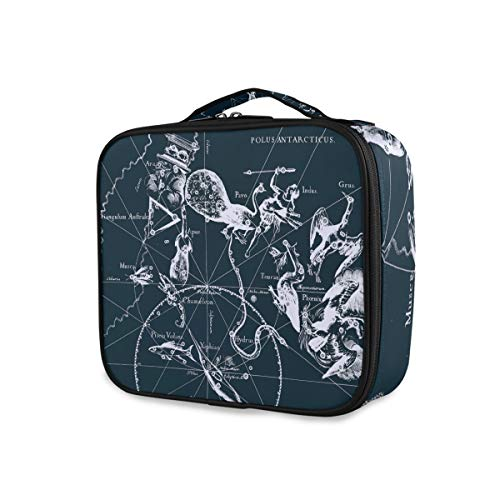Outils de voyage portables Cosmetic Train Case Constellation Girls Makeup Bag Toiletry Pouch Storage