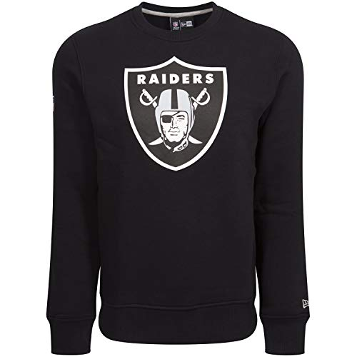 New Era Herren Pullover Crew Neck NFL Team Logo Oakland Raiders, Black, L